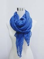 blue woman scarf fashion spring summer wrinkle shawl to block sun large scarf 190*90cm beach scarf free shipping