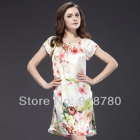 100% pure silk night skirt ,nightgown ,night wear .free shipping 100 mulberry silk