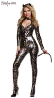 With Containing Tail Cat Kitten Conjoined With Ladygaga With Costumes Leopard Clothing YK666