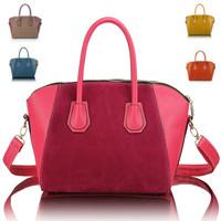 Fashion bags 2013 women's nubuck leather patchwork handbag smiley bag shoulder bag handbag bag women's