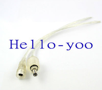 Free shipping!  2sets\lot 40 cm 5.5X2.1mm DC Male to Female Connector Waterproof Cable Waterproof