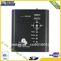 DHL Free shipping 2 CH sd card mini home dvr with motion detect function