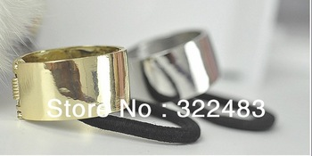 2013 Hot Sell Fashion Gold Plated Hair Accessories Super Smooth Light Elastic Hair Bands