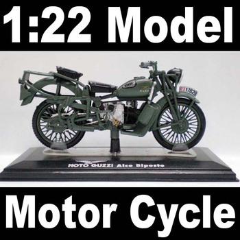 NEW 1:22 Motor Cycle model motorcycle MOTO GUZZI Alce Biposto Diecast Model In Box Bike