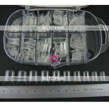 De qualité professionnelle 100 pcs/caixa effacer Aquarium faux ongles conseils sur l'eau bulle ongles conseils - livraison gratuite(China (Mainland))