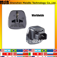 Universal  10A 250V ABS material Us to India plug adaptor worldwide 10pcs/lot free shipping