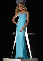 Custom Made Blue Sweetheart Spaghetti Strap Mermaid Long Prom Dress/Party Dress vestido de festa