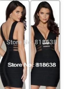 Black Bodycon Dress on Ruffle Bandage Bodycon Dress Inspired Kim Kardashian Hl Bandage Dress