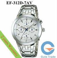 Fashion EF-312D-7AV Men's Watch Hardlex Dive Watches Stainless S. Wristwatch Free Ship With Original box