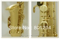 Hand Graving Craft of Alto Gold Lacquer Saxophone