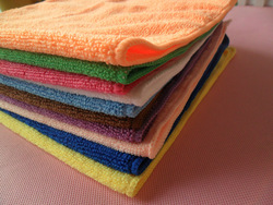 free shipping 25cm*25cm Microfiber kitchen towel Micro Fiber small square Microfiber cleaning cloths(China (Mainland))
