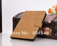 New Arrival Luxury Simple Genuine Leather Case For iPad Mini Ultra Thin Retro Fashion Cover With Stand Magnetic p345