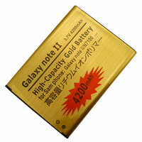 Wholesale + Free Shipping! 4200mAh High-Capacity Gold Li-ion Business Battery For Samsung Note 2 N7100