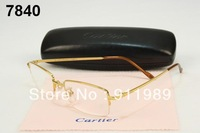 wholesale Good Quality  rimless non-screw  titanium eyeglasses frame Brand pure titan spectacles frame with Free shipping