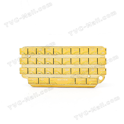 Plating Gold Qwerty Keyboard Keypad for BlackBerry Porsche Design P9981 OEM free shipping(China (Mainland))