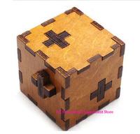 Switzerland cube Wooden Swiss Secert Puzzle Box wood brain teaser  toy+Worldwide  Free shipping