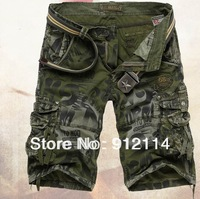 2013 new summer cotton military uniform shorts men,brand Multi-pocket camouflage cargo shorts for men,freeshipping,29-38,K22