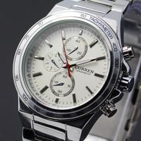 CURREN 8011 Stainless Steel Brand Analog Quartz Dress Watch (2 Color)