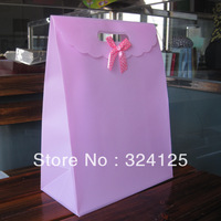 Free shipping 20pcs/lots 31.5*24*12cm Waterproof PP gift packaging bag,thickening holiday gift bag,accessorie packaging bag