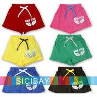 Kids Shorts Boy Summer Beach Trousers Free Shipping Retail Little Girl Hot Pants Summer Angel Shorts  K0519