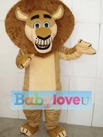 Madagascar Lion Alex Mascot Costume Animal mascot costume