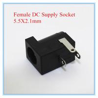 Best Price! Free shipping,500pcs/lot Female DC Power Jack supply socket 5.5X2.1mm DC-005 5.5-2.1MM ,wholesale