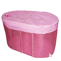 Folding plastic adult inflatable bathtub thickening thermal plus size bathtub tub heat insulation bath bucket