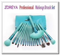 ZOREYA 2013 New Arrival 18pcs/et Sky Blue makeup brush set cosmetic tools cosmetic brush set for women beauty kit cosmetic kit