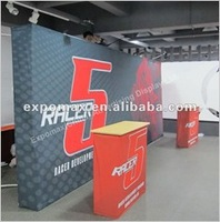 6ft EZ Arch Shape Printed Tradeshow Tension fabric display, portable  display
