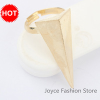 Min. Order $10, Fashion Rings Jewellery,Vintage Gold Plated Triangle Rings,Punk Top Fashion,Adjustable Rings,Accessories,R23
