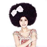 S52 party articles halloween wig oversized black afro kinkiness 180g oversized