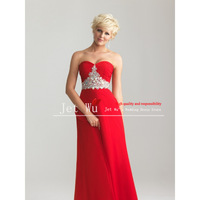 Custom Made new Fashion Colorful Sweetheart Off the shoulder Wholesale Chiffon Prom Dress