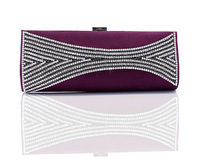 Rhinestone crystal evening clutch bag handbag TF0850A