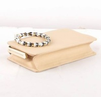 2013 women serpenti solid real leather clutch bag 8 colors,brand designer wristlets - MOQ1(free shipping)