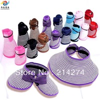 Summer sun visor hat parent-child cap strawhat sunbonnet folding child