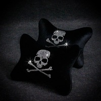 New arrive Auto supplies mastermind mmj rhinestone diamond skull four seasons general headrest neck pillow