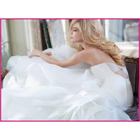 Free shipping strapless organza mermaid gown 2013 bridal dress HP6302