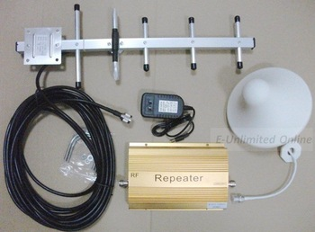 Free shipping by DHL/FedEx, GSM 950 Cell Mobile Phone Signal Repeater Booster ,10m Cable,YAGI antenna ,Amplifier