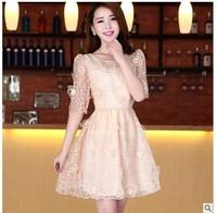 Mo Gainian high-grade genuine major suit spring 2013 dress dress new lace Eugen yarn spring dress