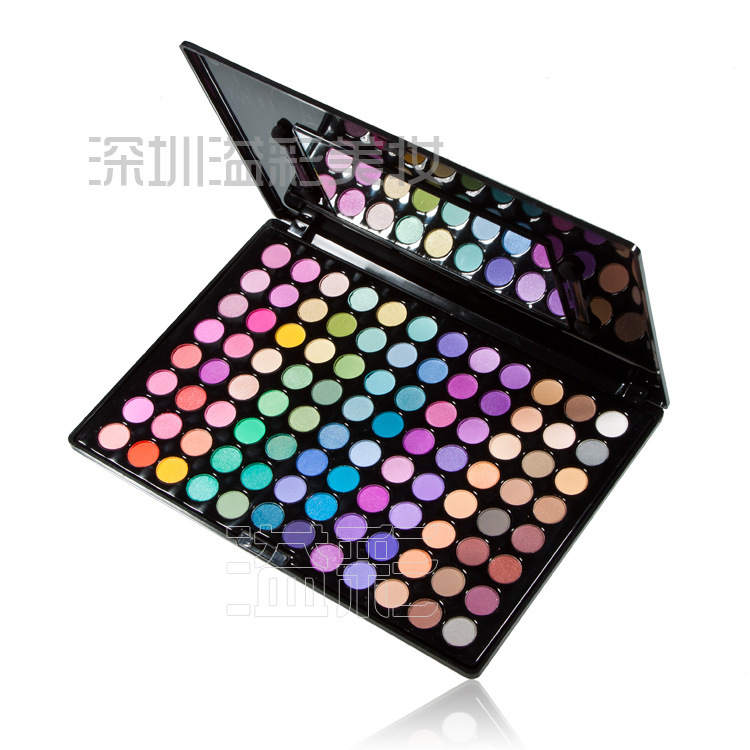 Free Shiping Cheap Beauty Product Series-- Leading-the-trend 96 Warm Color Makeup Powder Eye Shadow Palette with Mirror & Brush(China (Mainland))