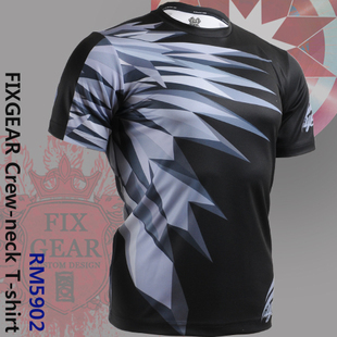 {No. RM-5902} FIXGEAR Tennis Golf T-Shirts Custom Design Printing Men's Sports Tee  Crew Neck Short T-shirts