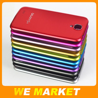 i9500 Metal Wire drawing Battery Housing Cover Case For Samsung Galaxy S4 Black Frame 1pcs/lot + Free Shipping