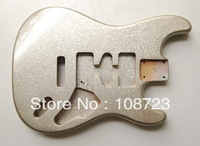 Alder Body Replacement for Strat Guitar Silver Flake Finish