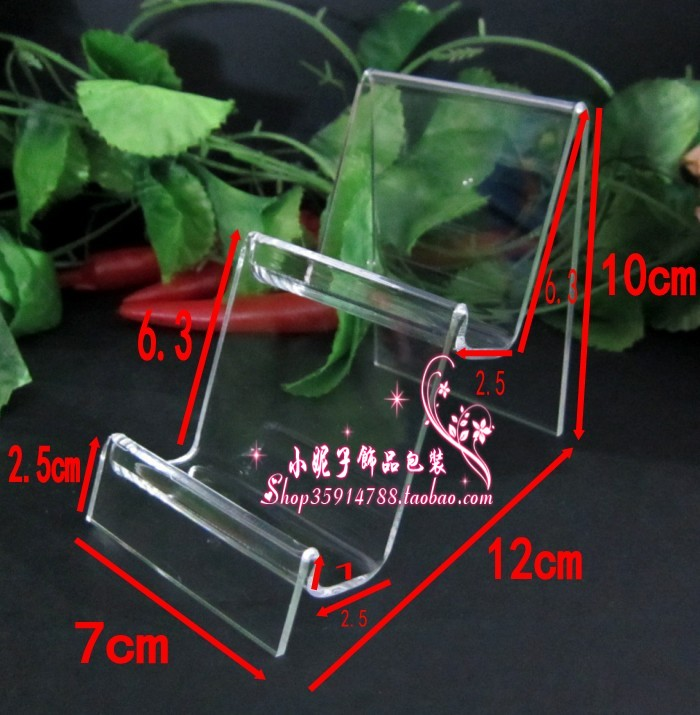 Acrylic mobile phone bracket digital products mobile phone holder display rack cell phone holder jewelry stand(China (Mainland))