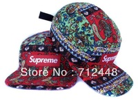 Colored Red Blue Supreme 5 Panel Camp Snapbacks Cap Leopard Adjustable hats cheap Snapback Dropshipping