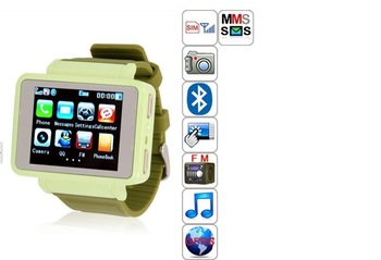 "Free shipping k1 iwatch GSM Quadband Watch Mobile Phone,1.33"" Camera Flashlight,Compass,Bluetooth,FM,MP3 with retail box"
