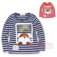 2013 cartoon clothing long-sleeve T-shirt male child 100% cotton basic shirt children in the spring and autumn top
