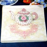 Multicolour table napkin paper print wedding towel toilet paper teapot facial tissue paper