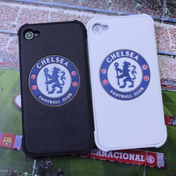 Football Club Chelsea case for iPhone 4 Chelsea fans mobile phone case for iphone 4s leather case for iphone 4s Free shipping(China (Mainland))
