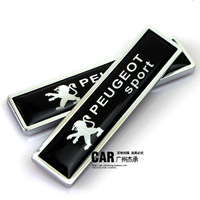 New arrive for Pulchritudinous 207 307 308 408 508 refit emblem metal car stickers 3d after decoration label